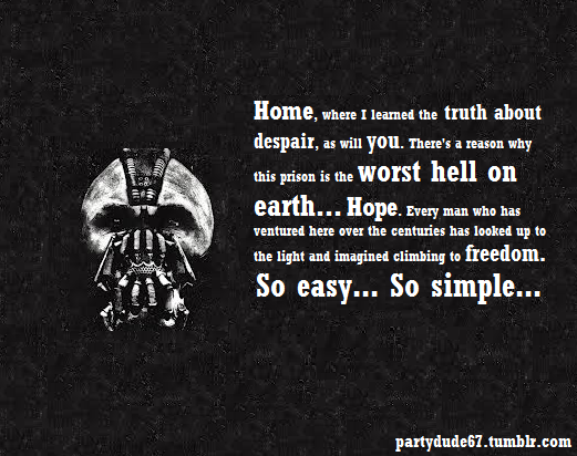 The Dark Knight Quotes: Batman Bane Quotes Darkness. QuotesGram