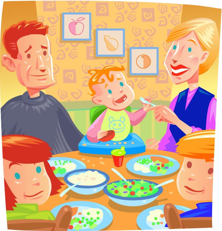 family eating clip art - 917×954