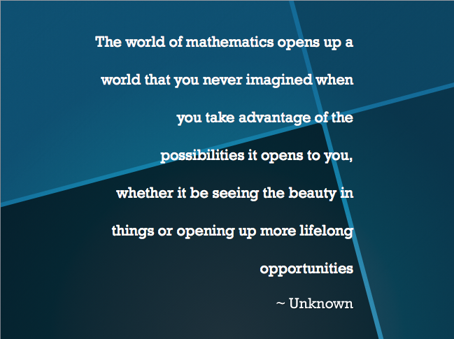 Beauty Of Math Quotes Sayings Postcard: Motivational Math Quotes. QuotesGram