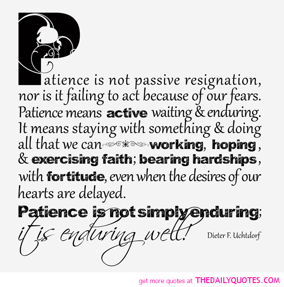 Persistence Motivational Quotes: Patience Quotes. QuotesGram