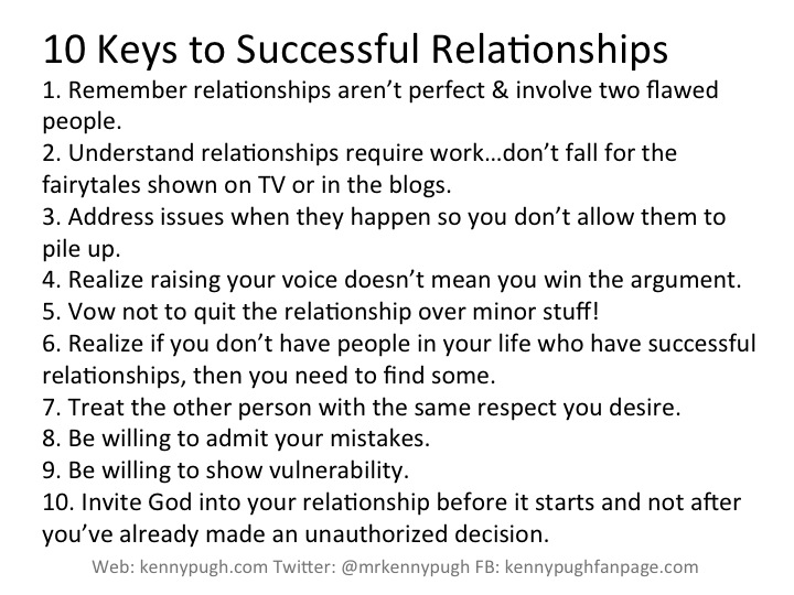 what are the keys to a successful relationship