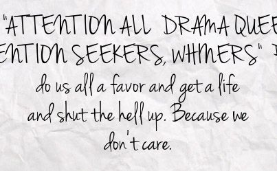 Attention Seekers Quotes. QuotesGram