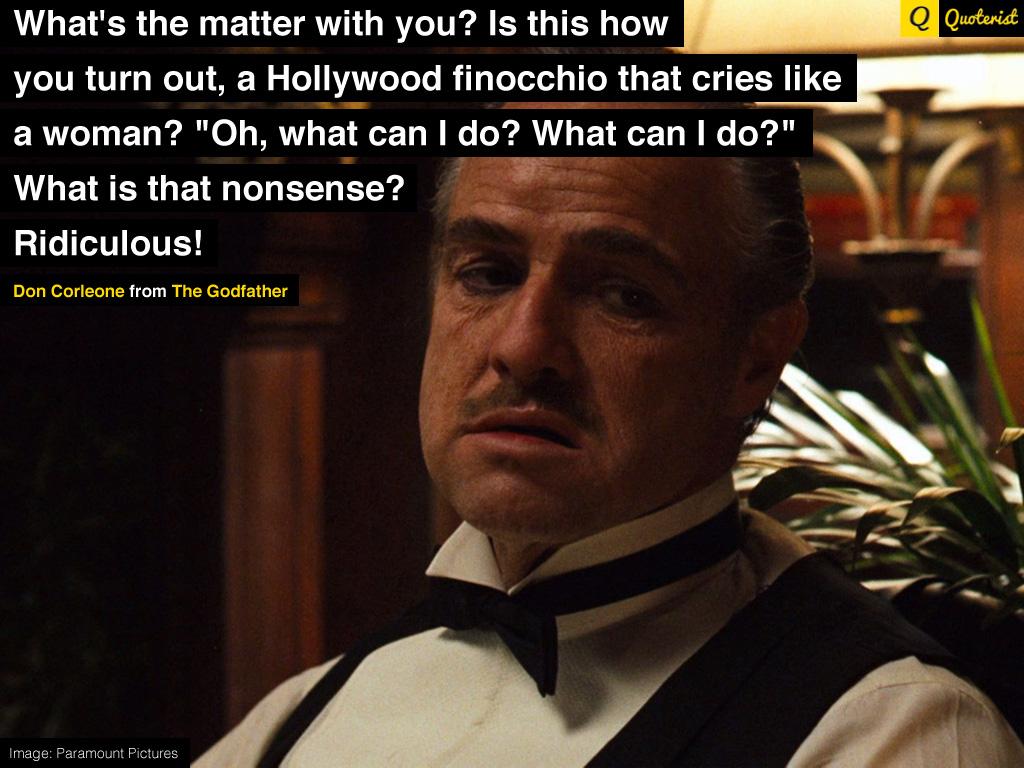 Favor vito corleone quotes The Godfather