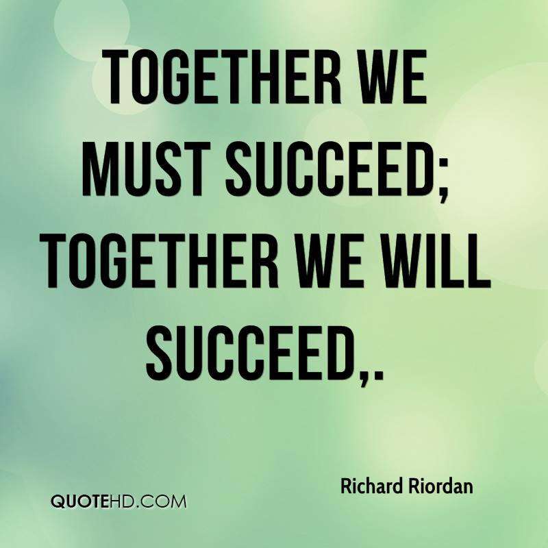 Father And Son Working Together Quotes: Together We Succeed Quotes. QuotesGram