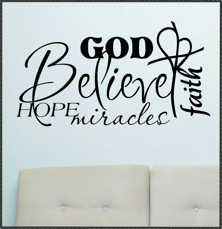 religious vinyl wall quotes quotesgram. Black Bedroom Furniture Sets. Home Design Ideas