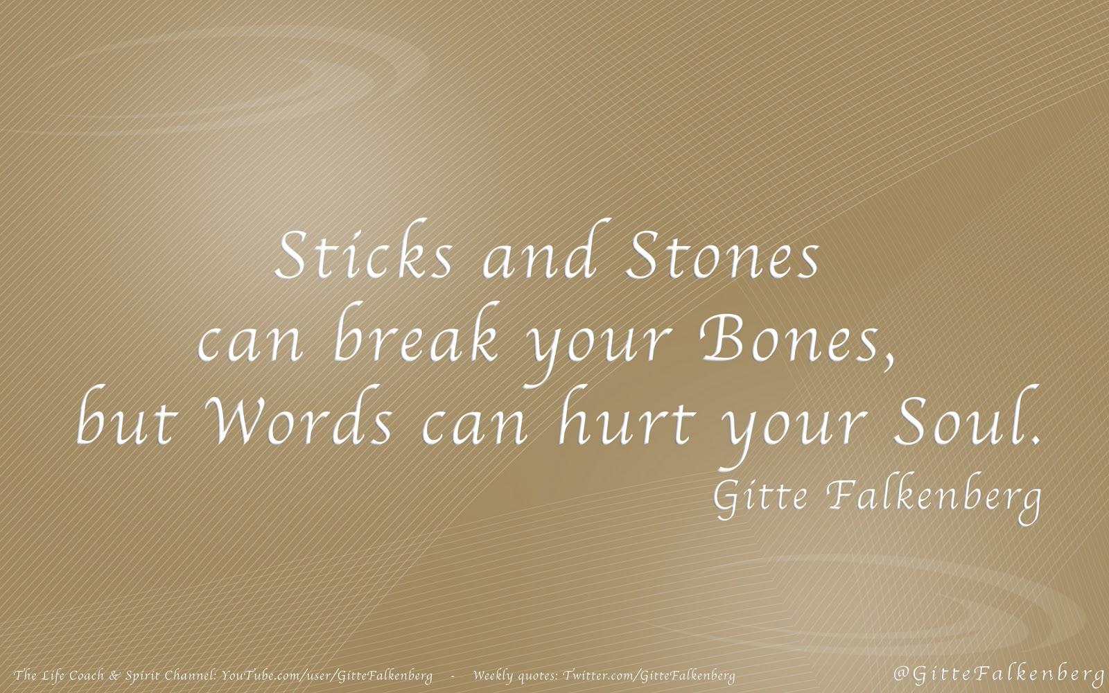 What do you do when sticks and stones do break your bones