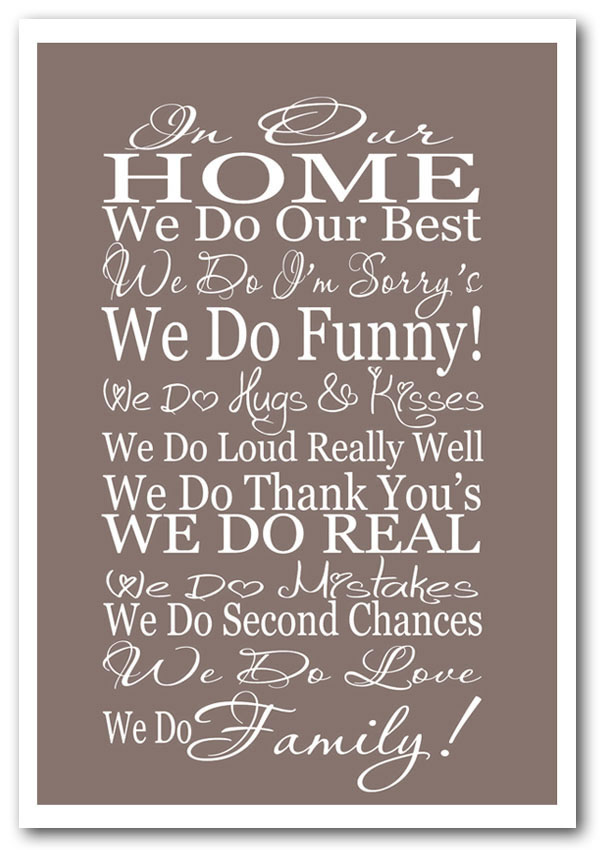 Family Quotes And Posters Quotesgram
