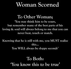 Signs of a scorned woman