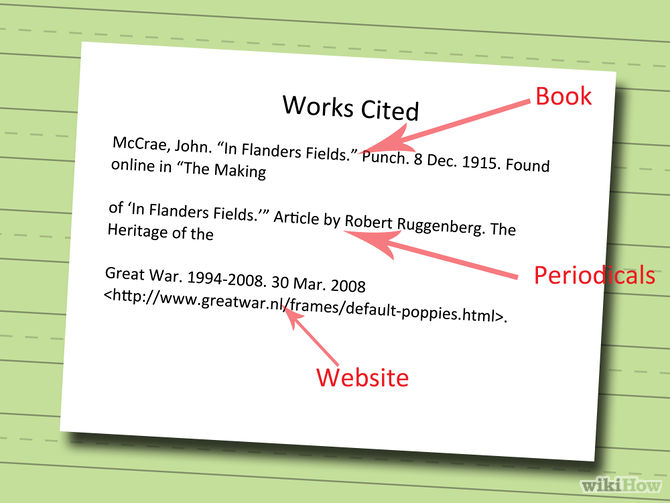 how do you write a works cited page