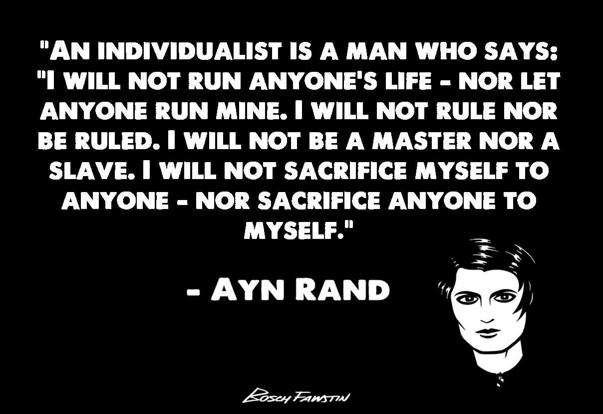 an analysis of ayn rands views about collectivism Ayn rand explores the issue of individualism vs collectivism in her novel the fountainhead, and in what is capitalism (in capitalism: the unknown ideal ) collectivist political theories from plato to hegel and marx are criticized in karl popper's the open society and its enemies.