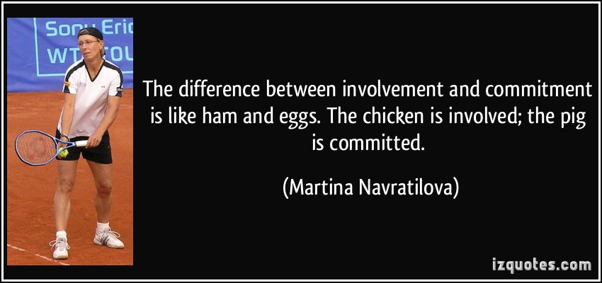 Commitment Chicken Pig Bacon Eggs: The Difference Between Like And Love Quotes. QuotesGram