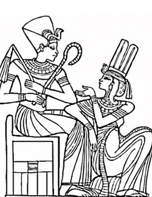 Egypt Coloring Pages Queen