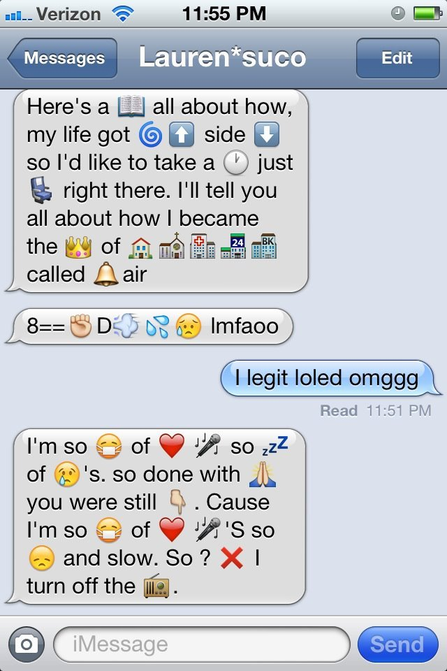 Dirty emoji text messages