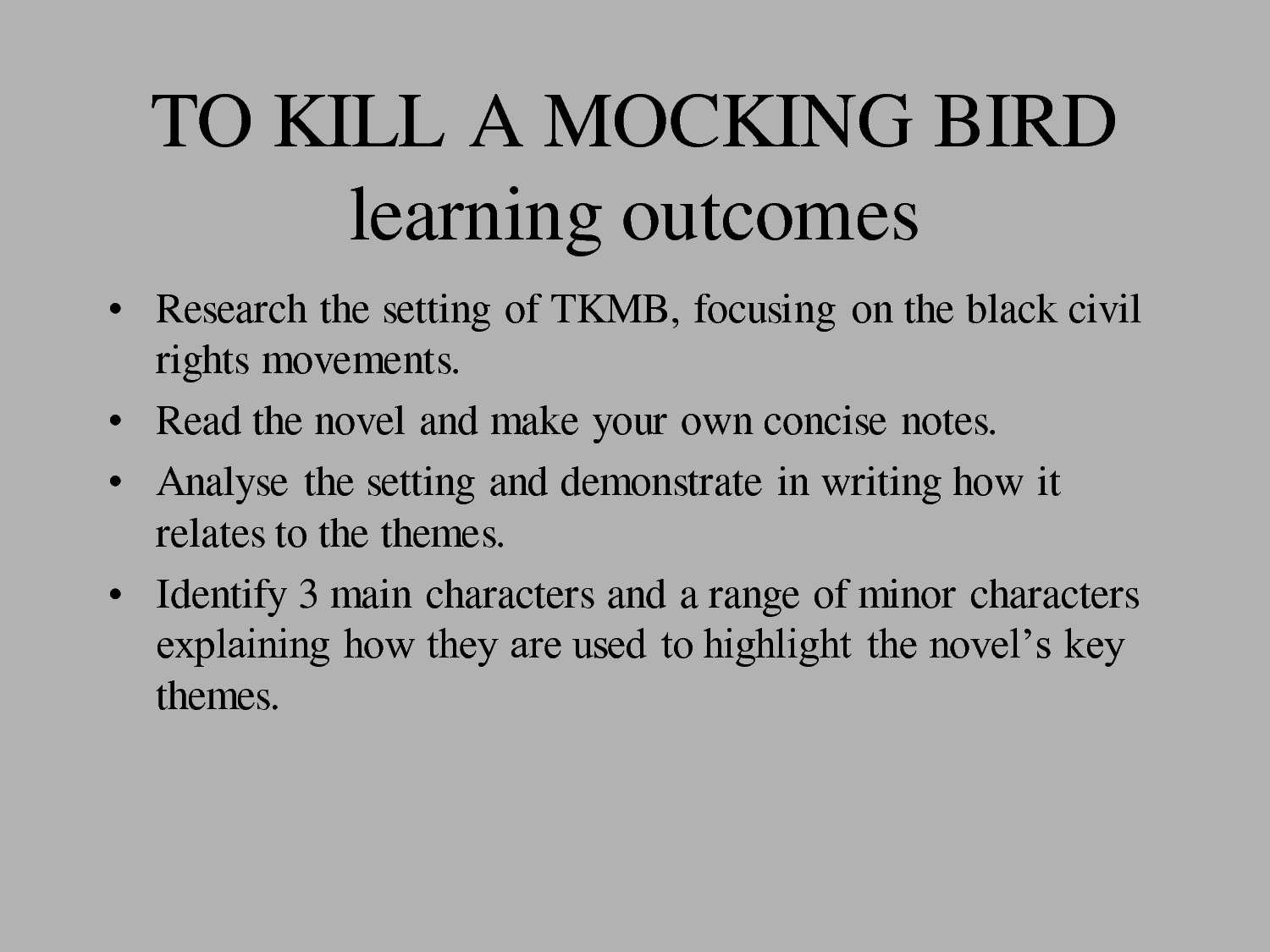 integrity in to kill a mockingbird To kill a mockingbird by harper lee was written in the 1950s and published mid-1960 we shall explore the plot, characters and themes in the book the symbolism relied on by the author shall be addressed according to its relevance to the plot.