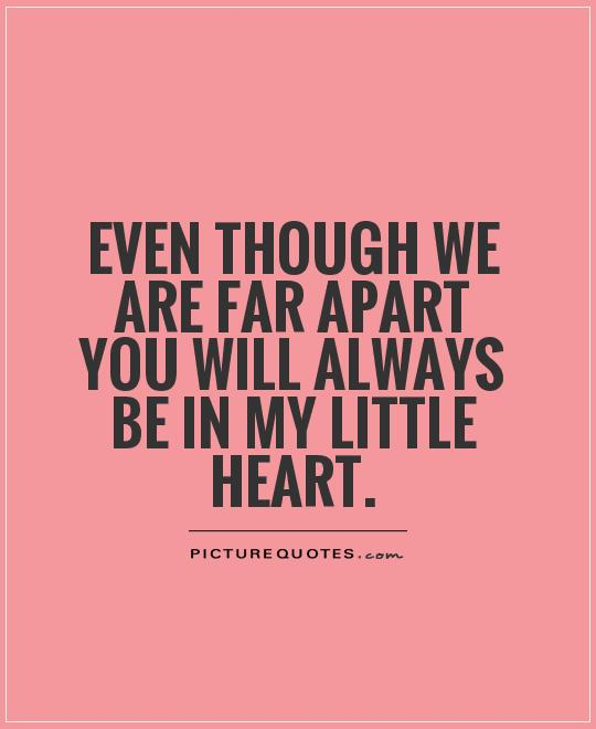 Apart From: When We Are Apart Quotes. QuotesGram