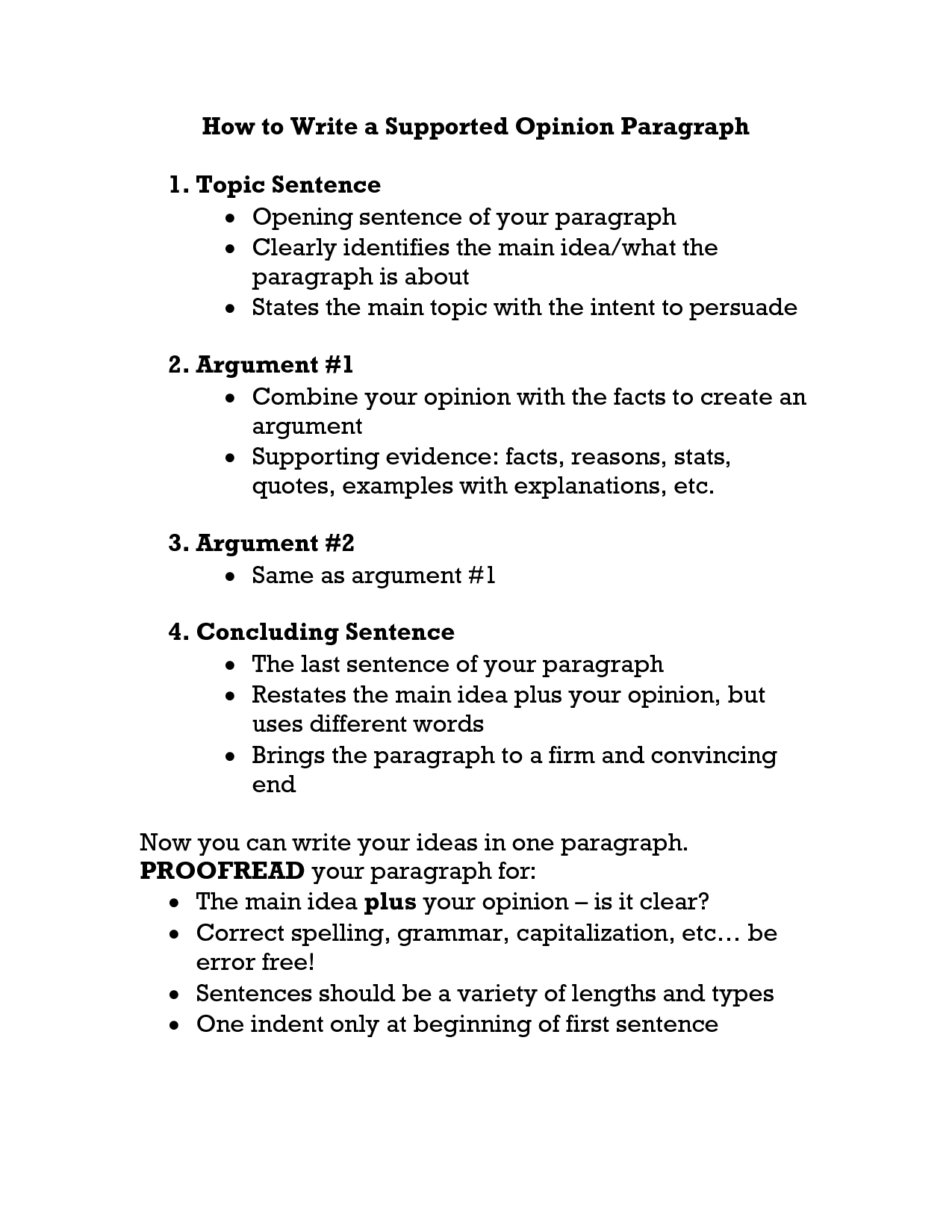 supported opinion essay topics