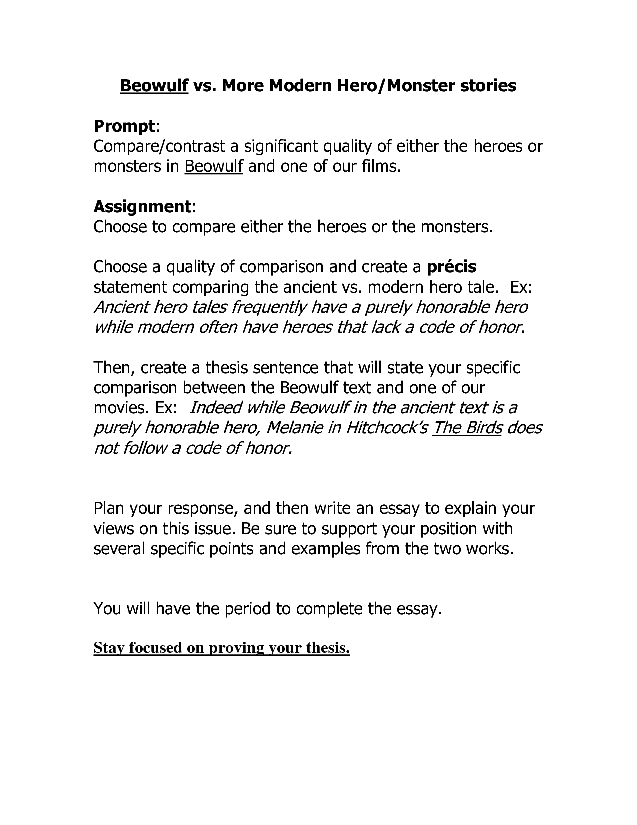 How To Write a formal   Paragraph personal response essay to a     JFC CZ as