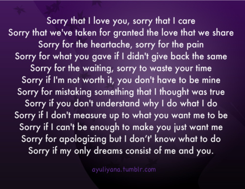 Im Sorry Boyfriend Quotes: Im Sorry I Cheated Quotes. QuotesGram