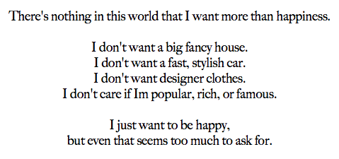 I Just Want To Be Happy Quotes. QuotesGram