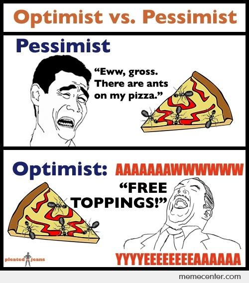 """optimistic vs pessimism The science is clear—the climate is changing, and this change is caused  we  asked a """"pessimist"""" and an """"optimist"""" to share their hypothetical."""
