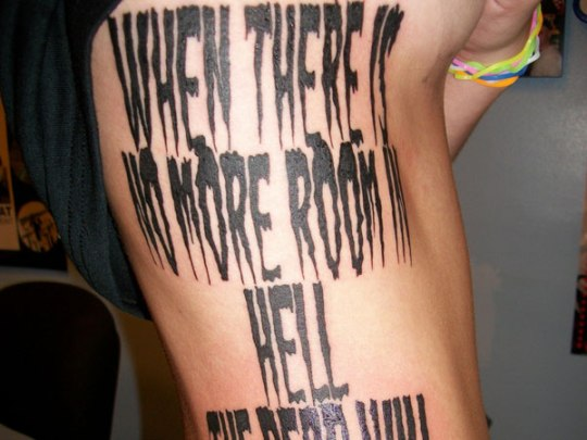 Quote Tattoos On Side For Men Rib Quotes Tattoos For...