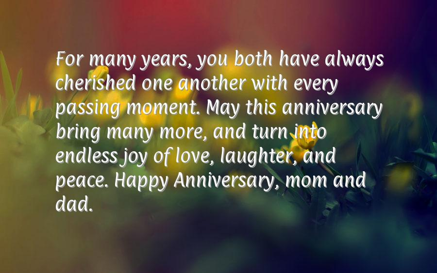 Th anniversary quotes for parents quotesgram
