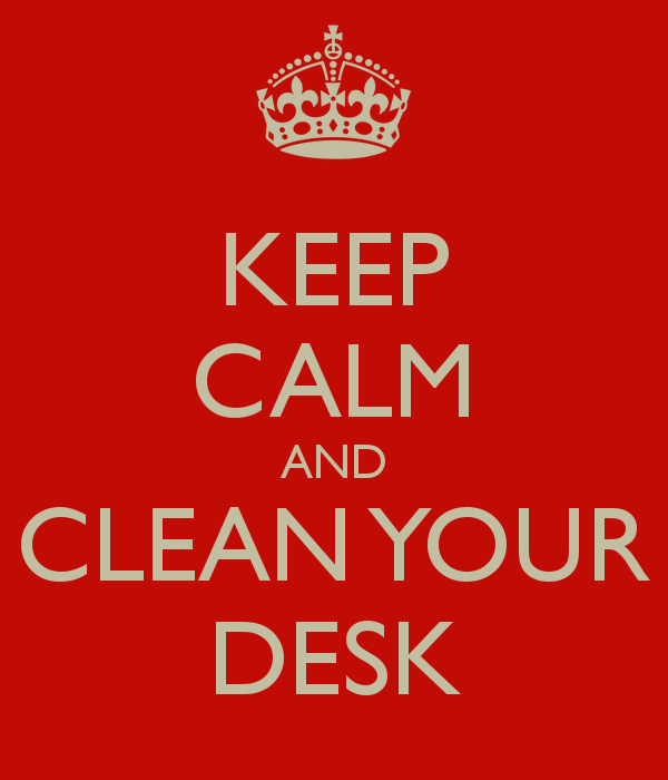 Clean Desk Quotes QuotesGram