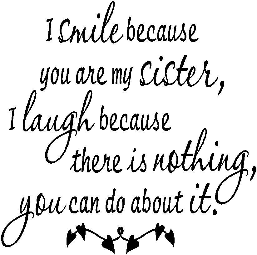 I Love You Sister Quotes: Sarcastic Sister Quotes. QuotesGram