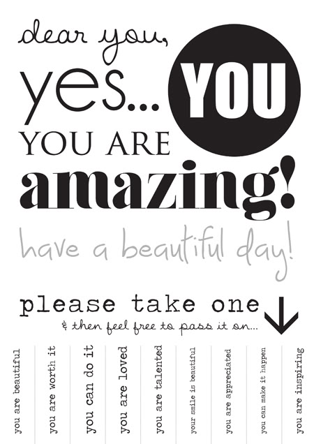 Impeccable image with printable affirmations