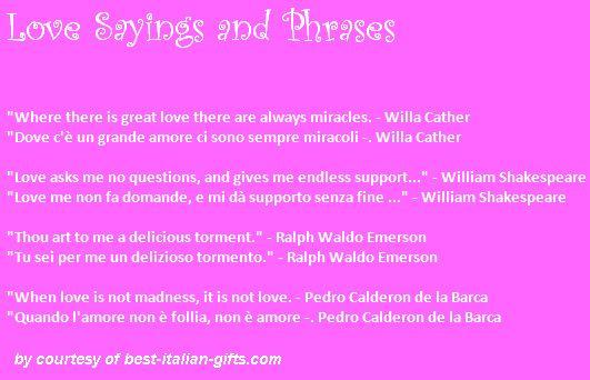 Italian Translation English To Italian: Italian Quotes About Love. QuotesGram