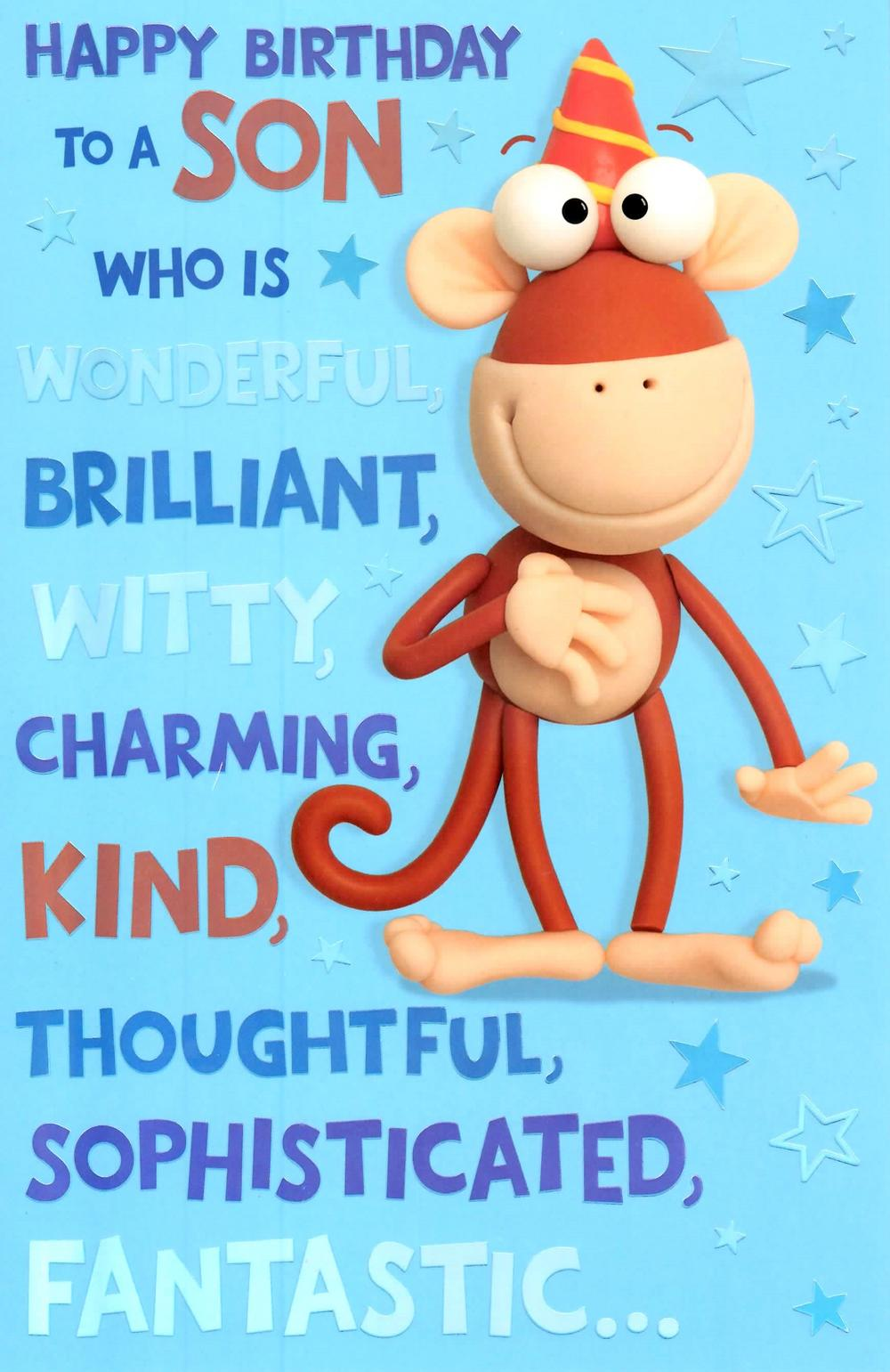 Son Funny Birthday Quotes: Nice Quotes For Son Happy Birthday. QuotesGram