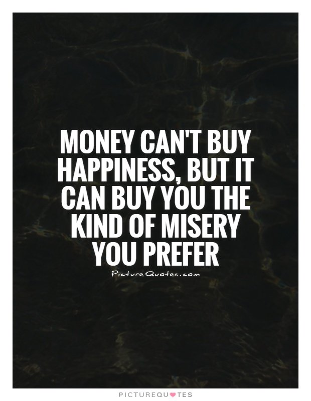 Money can buy happiness for and against essay