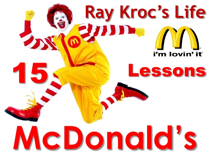ray krocs dreamy conception of mcdonalds History founded in 1947 in the los angeles area gsf and mcdonald's set out to pursue a dream of the highest standards annual sales for gsf had reached $2 million when ray kroc franchised mcdonald's restaurants in 1955.