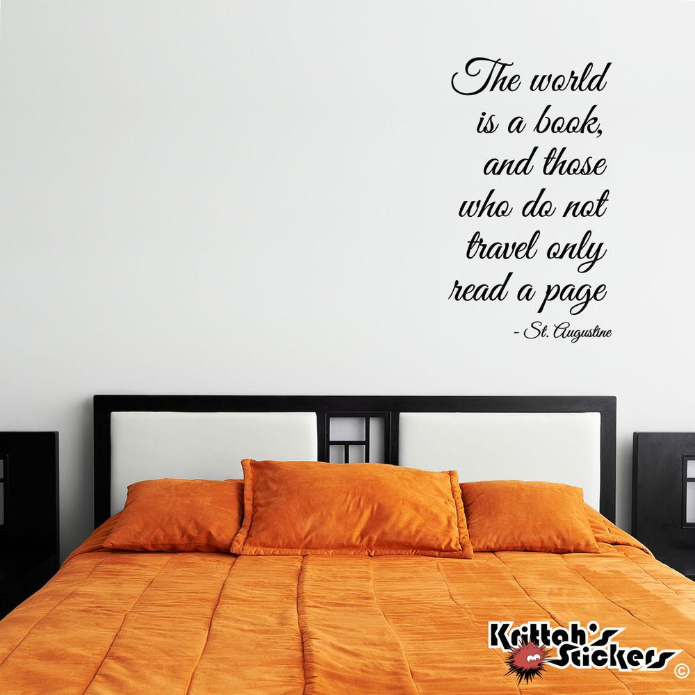 book wall vinyl quotes quotesgram. Black Bedroom Furniture Sets. Home Design Ideas