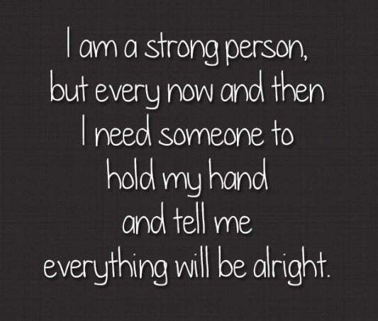 Not I am strong quote are mistaken