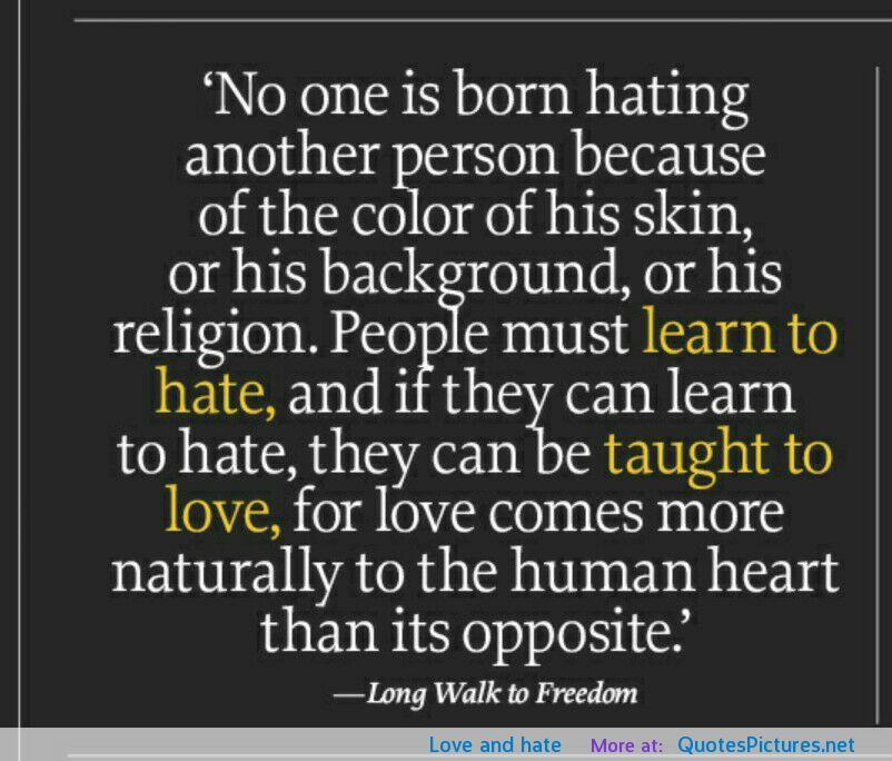 Famous Quotes About Hate. QuotesGram