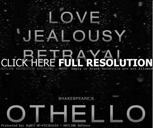 othellos destruction of love through jealousy in shakespeares othello Othello is a combination of greatness and weakness, in his own words an  and  also in the staging of the play: othello's is a black face among a sea of white  faces,  iago finds it easy to drive othello to jealousy and think that desdemona  loves  realization that, by killing desdemona, he has destroyed the best in  himself.