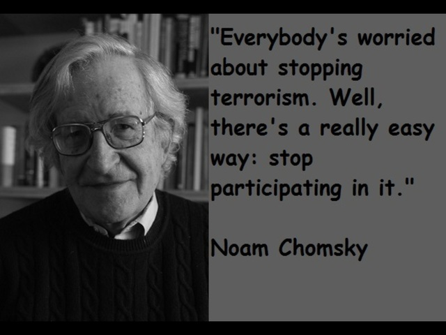 Chomsky Terrorism Quotes