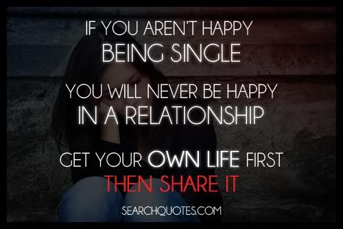 Happy Single Quotes Life. QuotesGram