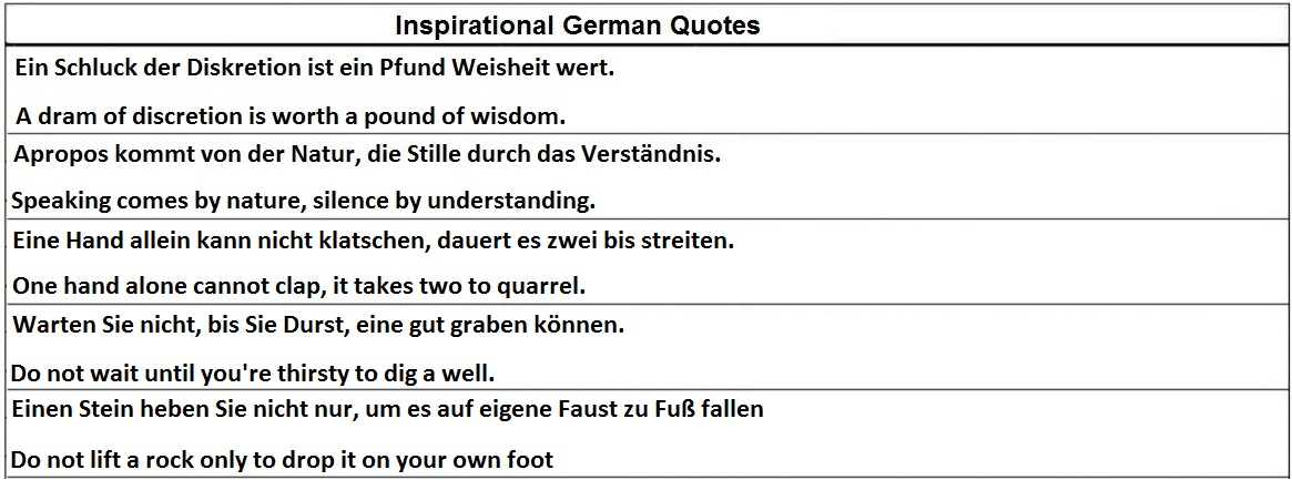 inspirational quotes in german german quotesgram