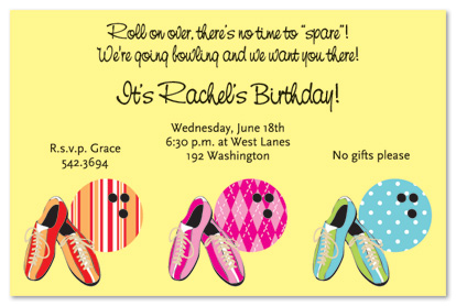 Bowling Phrases For Invitations
