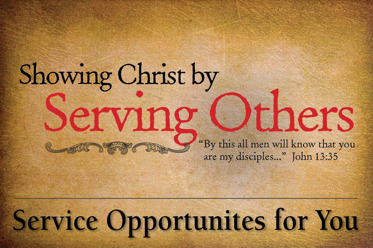 How christians serve others
