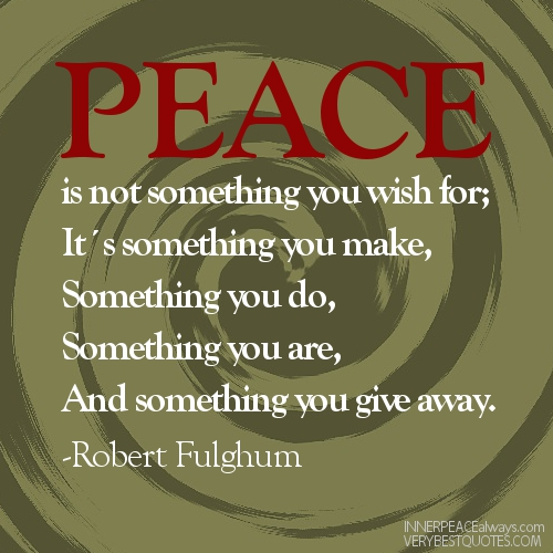Peace And Love Quotes. QuotesGram