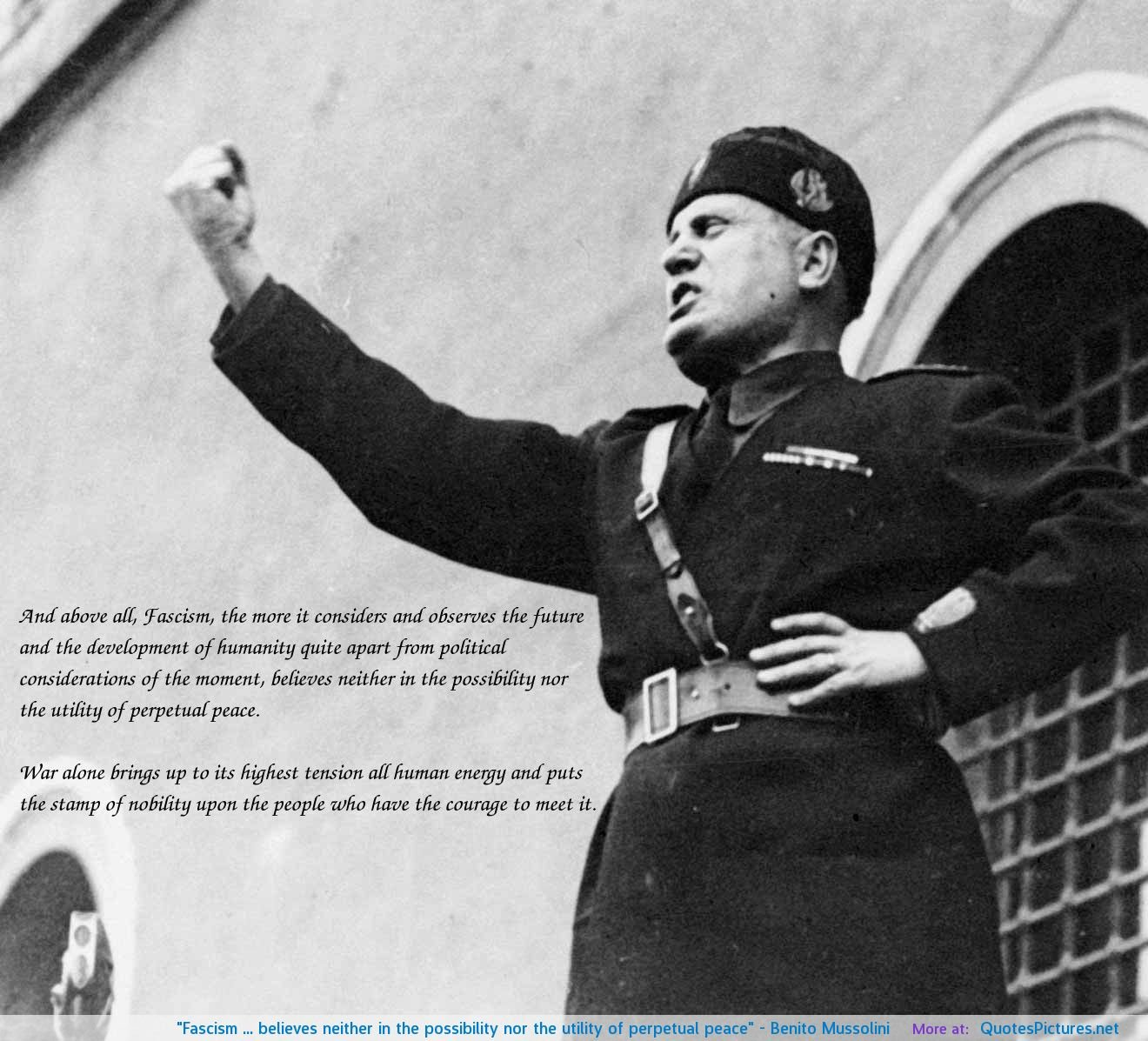 benito mussolini and fascism essay Read this full essay on benito mussolini and the rise of fascism benito mussolini  and the rise of fascismbenito mussolini was italy's firs fascist dictator.