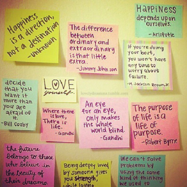 Sticky Note Quotes Quotesgram