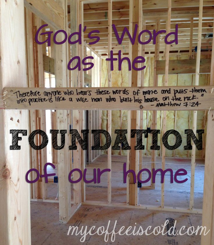 Bible quotes on house quotesgram for Home construction quotes