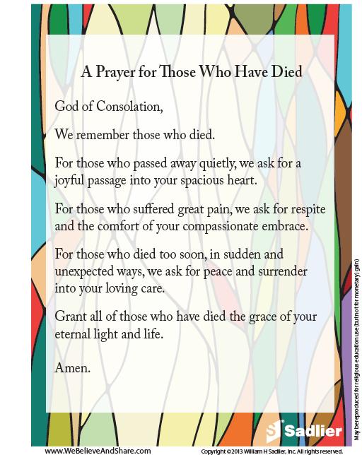 Catholic prayer for grieving family