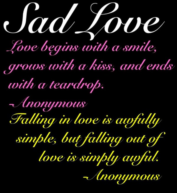 Sad Quotes About Love: Really Sad Quotes About Love. QuotesGram