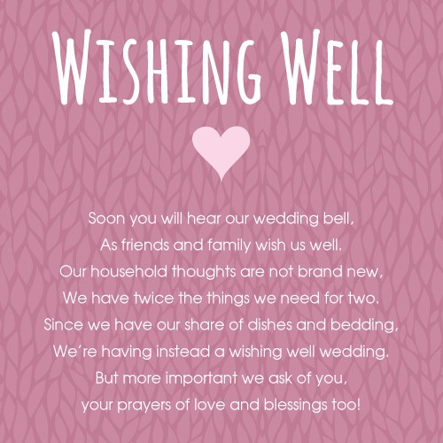 Wedding Gift Money Poem Short : Wedding Wishing Well Wording Short - Wedding Invitation Sample