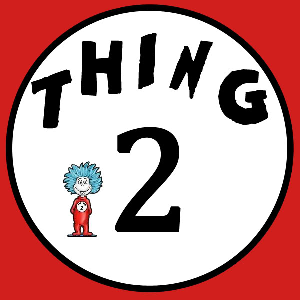 It is a graphic of Thing 1 Printable throughout animated